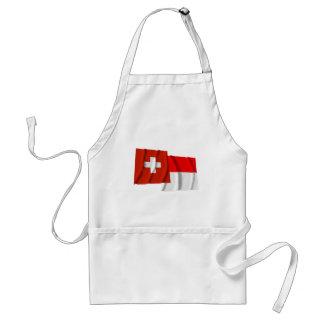 Switzerland & Solothurn Waving Flags Apron