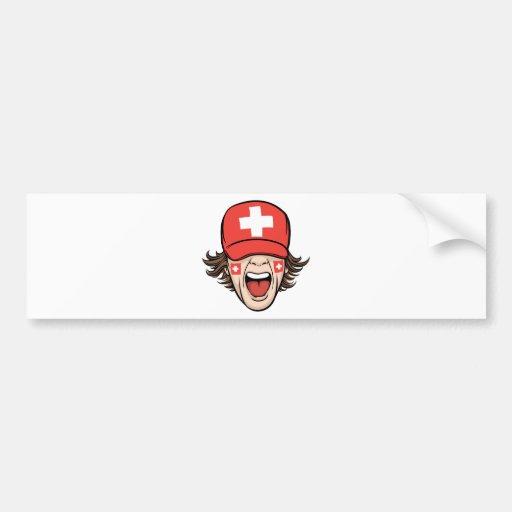 Switzerland Sports Fan Car Bumper Sticker