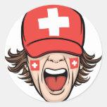 Switzerland Sports Fan Classic Round Sticker