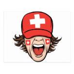 Switzerland Sports Fan Postcard