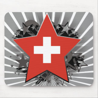 Switzerland Star Mouse Pad