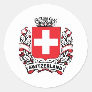 Switzerland Round Stickers