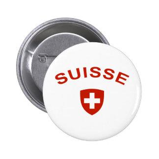 Switzerland Suisse 2 Inch Round Button