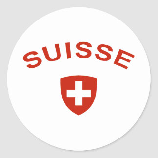 Switzerland Suisse Classic Round Sticker