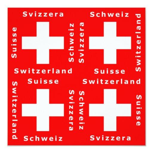 Switzerland, Suisse, Schweiz, Svizzera Invitation