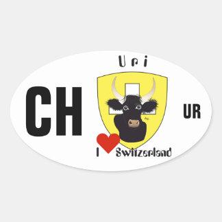 Switzerland Suisse Svizzera Svizra Switzerland adh Oval Sticker
