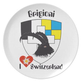 Switzerland Suisse Svizzera Svizra Switzerland Dinner Plate