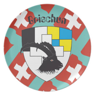 Switzerland Suisse Svizzera Svizra Switzerland Melamine Plate