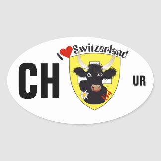 Switzerland Suisse Svizzera Svizra Switzerland Oval Sticker