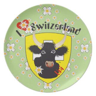 Switzerland Suisse Svizzera Svizra Switzerland Plate