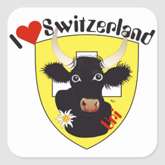 Switzerland Suisse Svizzera Svizra Switzerland Square Sticker