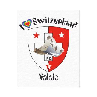 Switzerland Suisse Switzerland Valais Canvas Print