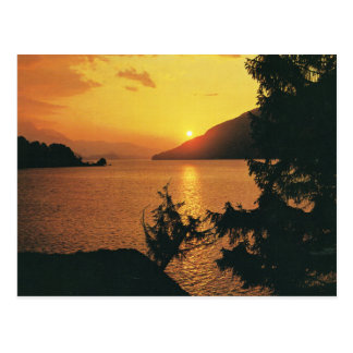 Switzerland, Sunset over the Brienzersee Postcard