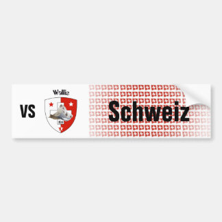 Switzerland Svizzera Suisse Valais autosticker Bumper Sticker