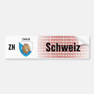 Switzerland Svizzera Suisse Zurich autosticker Bumper Sticker