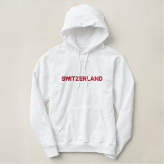 SWITZERLAND Swiss Alpine Nation Patriotic Apparel Embroidered Hoodie