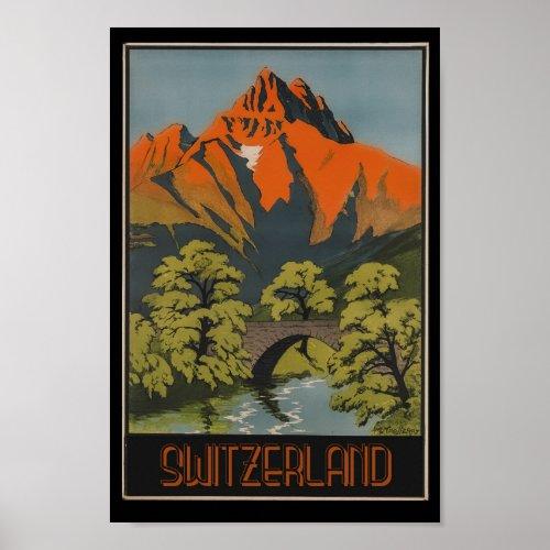 Switzerland Swiss Alps Mountains Vintage Travel