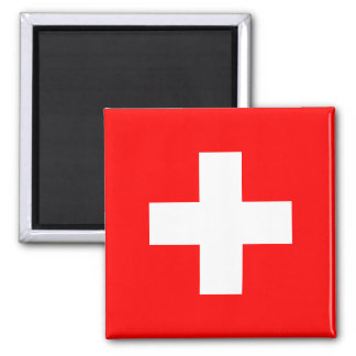 Switzerland - Swiss Flag 2 Inch Square Magnet