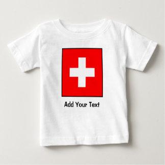 Switzerland - Swiss Flag Baby T-Shirt