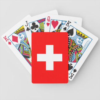 Switzerland - Swiss Flag Bicycle Playing Cards