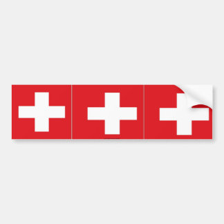 Switzerland swiss flag bumper sticker