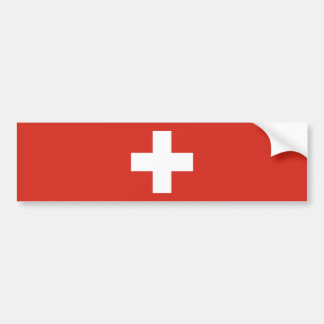 Switzerland/Swiss Flag Bumper Sticker