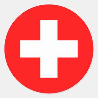 Switzerland - Swiss Flag Classic Round Sticker