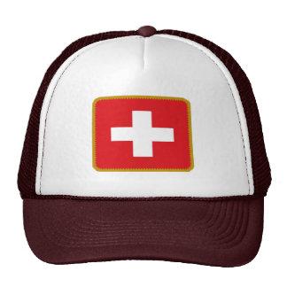 Switzerland swiss flag embroidered effect hat