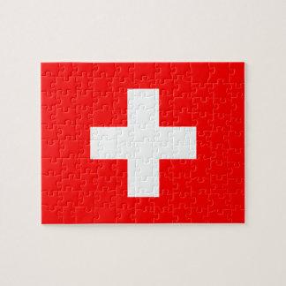 Switzerland - Swiss Flag Jigsaw Puzzle