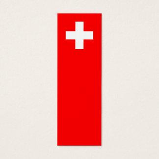 Switzerland - Swiss Flag Mini Business Card