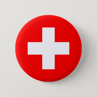 Switzerland - Swiss Flag Pinback Button