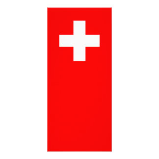 Switzerland - Swiss Flag Rack Card Design