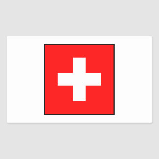 Switzerland - Swiss Flag Rectangular Sticker