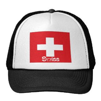 Switzerland Swiss flag trucker mesh souvenir hat