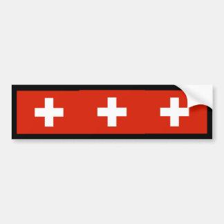 Switzerland , Switzerland Car Bumper Sticker