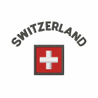 Switzerland T Shirt With Swiss Pocket Flag