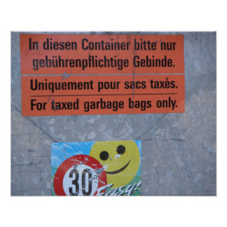 Switzerland,   Taxed garbage bags only Print