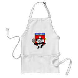 Apron with Swiss Tennis Panda design