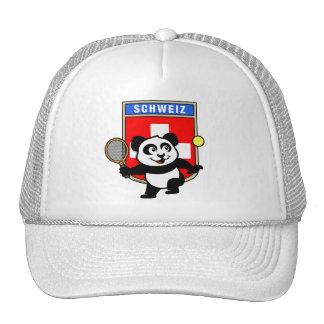 Switzerland Tennis Panda Trucker Hat