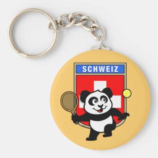 Switzerland Tennis Panda Key Chain