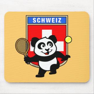 Switzerland Tennis Panda Mouse Pad