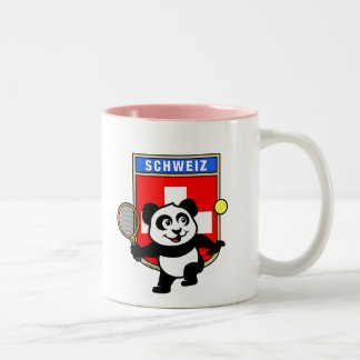 Switzerland Tennis Panda Two-Tone Coffee Mug