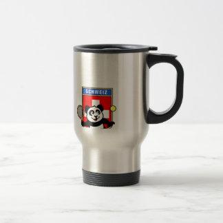 Switzerland Tennis Panda 15 Oz Stainless Steel Travel Mug