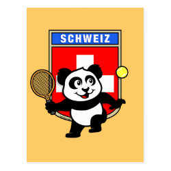 Swiss Tennis Panda Postcard