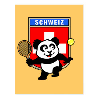 Switzerland Tennis Panda Postcard