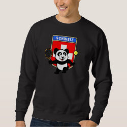 Swiss Tennis Panda Men's Basic Sweatshirt