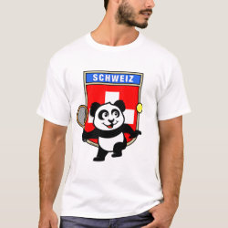 Men's Basic T-Shirt with Swiss Tennis Panda design