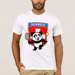 Men's Basic American Apparel T-Shirt with Swiss Tennis Panda design