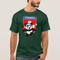 Swiss Tennis Panda Men's Basic Dark T-Shirt