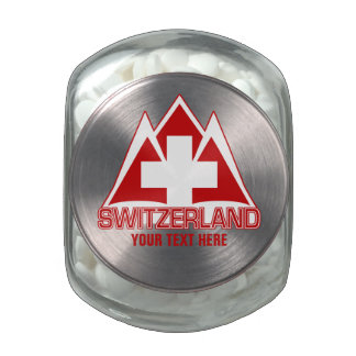 SWITZERLAND tins & jars Jelly Belly Candy Jars